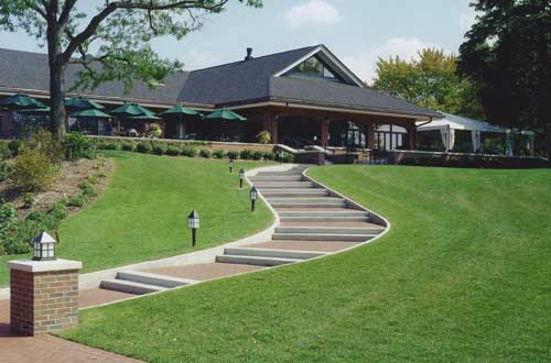 Exterior of renovation and expansion at the Skokie Country Club in Glencoe, IL